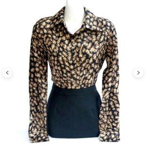 Gorgeous Cheetah Print Silk Blouse